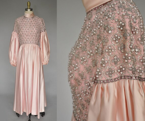 Victoria Royal gown | vintage 60s pink satin gown