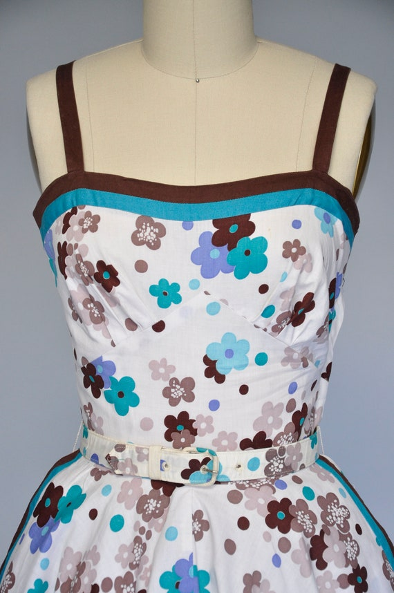 1950s sleeveless floral sundress XXS