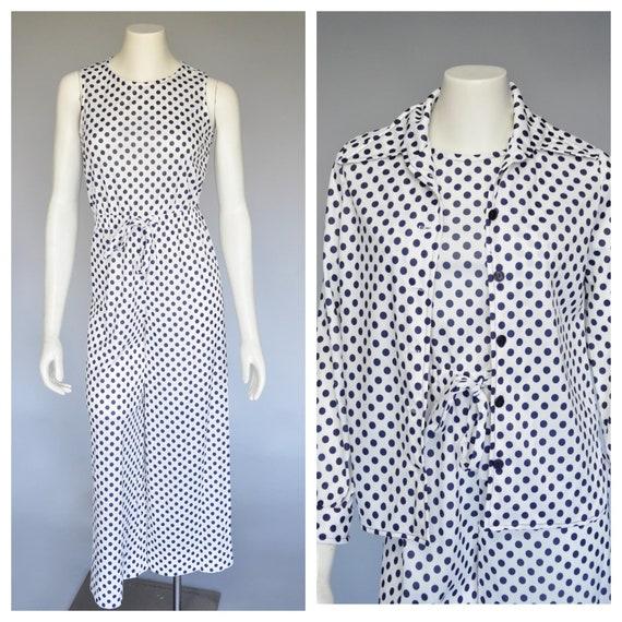 1970s polka dot jumpsuit XS/S/M