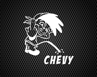 CHEVY PISS ON DODGE Truck Vinyl Decal DieCut Sticker Vehicle Toolbox Window #315