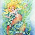"""Fantasy Art Print Mermaid Print """"Mermaid Dance"""""""