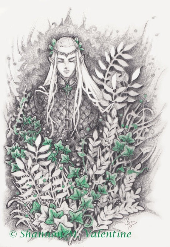 Lord of the Rings Elf Art Print Limited Edition Giclee Print Fantasy Elf Middle Earth Tolkien Inspired
