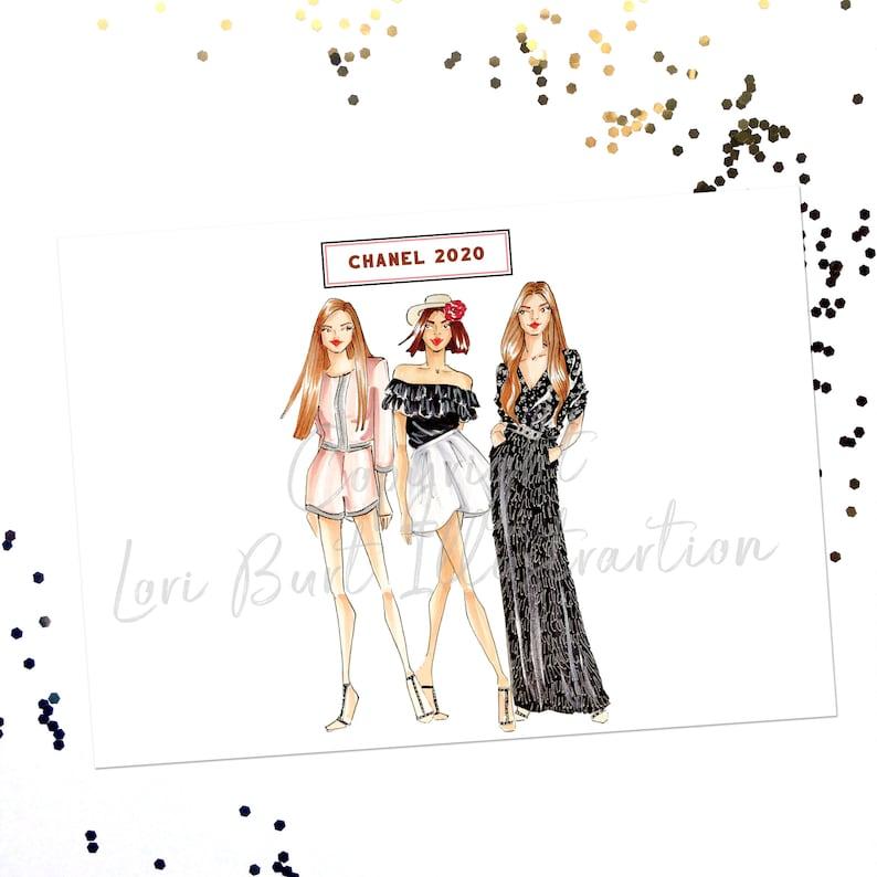 Chanel Fashion Print Chanel Office art Fashion Illustration image 0