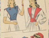 1940s Du Barry 5311 Misses' Accessory Set Pillbox Hat, Dutch Cap and Bibette Small
