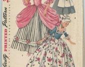 1950s Simplicity 4862 Girl's Colonial Dress Puritan Dress Costume Pattern Bust 28 UNCUT Vintage Sewing Pattern