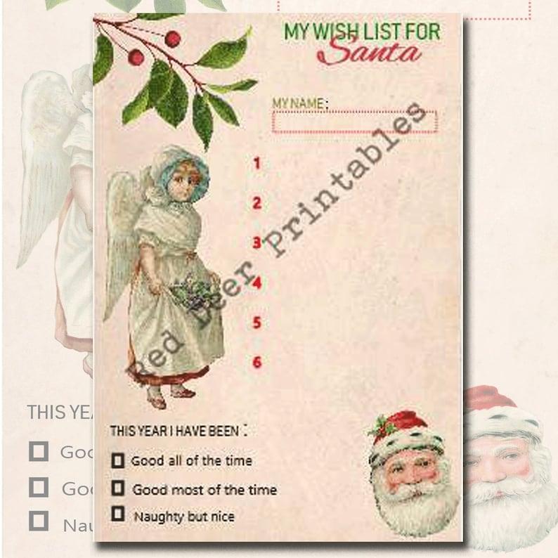 photograph regarding Santa Wish List Printable named Printable Santa Drive Record Naughty or Wonderful