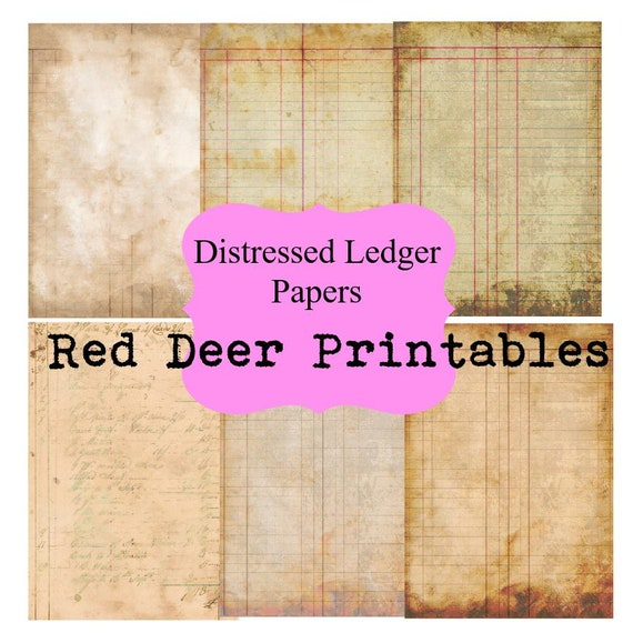 image relating to Ledger Paper Printable identify Distressed Ledger Paper junk magazine web pages printable A4 paper creating sbooking Printables