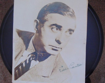 EDDIE CANTOR 8 x 10 black and white with brown hue publicity photograph