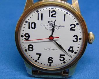 Mens Ball Trainmaster Official Standard 25 Jewel Automatic, ETA 2821 Wristwatch