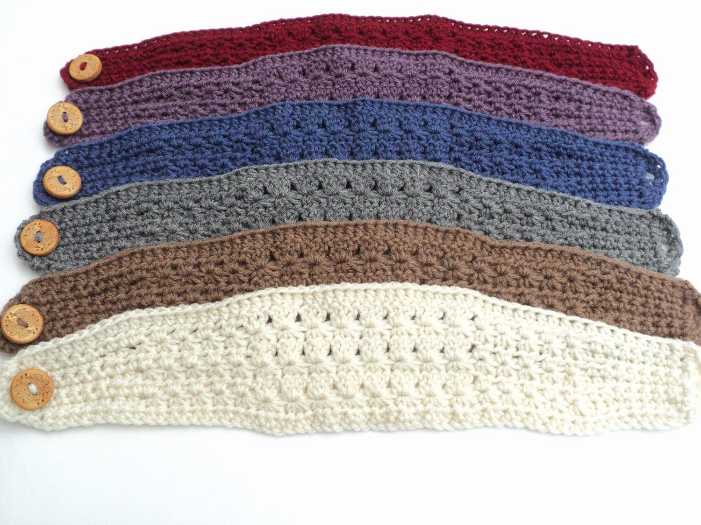 Crochet Pattern Star Stitch Wide Headband Pattern Adult And Etsy
