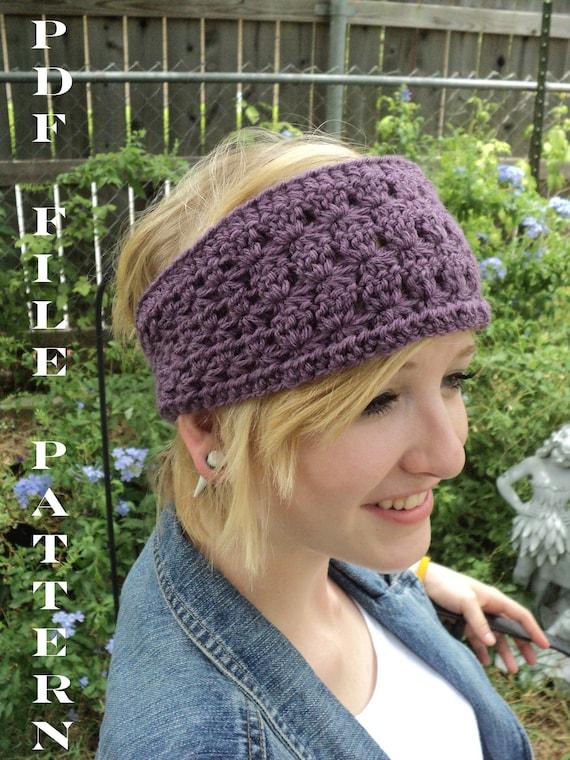 Crochet Pattern Star Stitch Headband Adult And Children Sizes