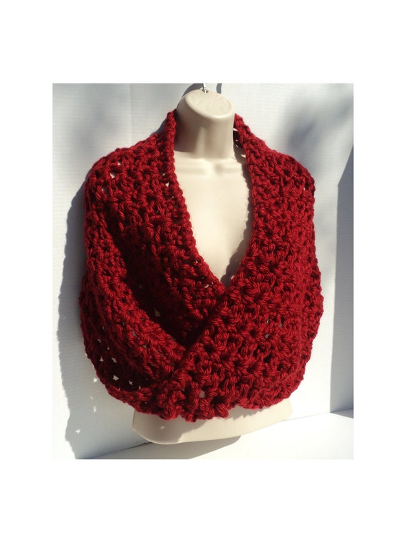 Crochet Pattern Simple Elegance Mobius Cowl Neck Scarf Etsy
