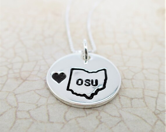 Ready to Ship | Ohio State Necklace | Ohio State Jewelry | OSU Jewelry | Ohio State Buckeyes | Ohio Pride | Ohio Proud | Custom College