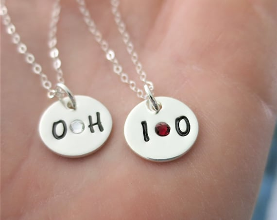 Ready to Ship | Ohio State Necklaces | OH - IO | OSU Necklace | Best Friends Necklaces | Buckeye Jewelry | Ohio State Jewelry