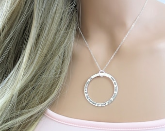 Be fearless in the pursuit of what sets your soul on fire   Sterling Silver Necklace   Inspirational Jewelry   Hand-Stamped