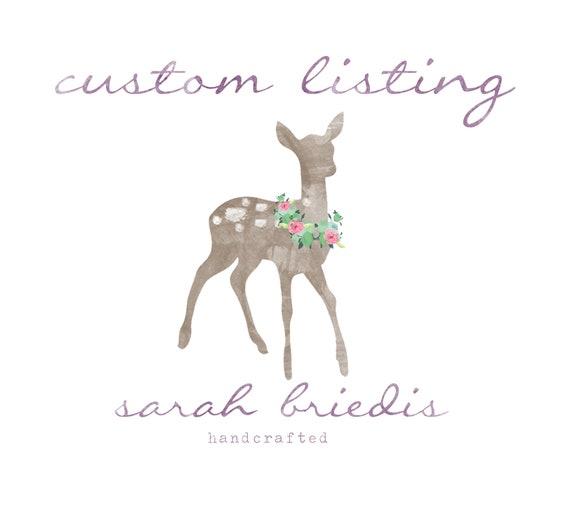 Custom Listing for Julie S.