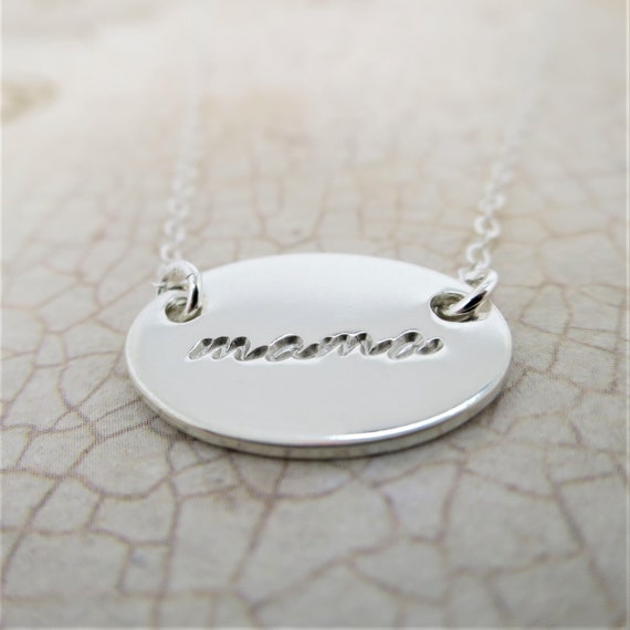 Mama Necklace | Mama Jewelry | Mommy Necklace | Mommy Jewelry | New Mom Gift | Push Present | Sterling Silver | Hand Stamped | Handmade