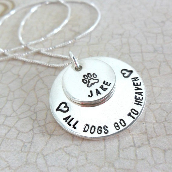 Pet Jewelry | Pet Memorial Jewelry | All Dogs Go to Heaven | Custom Pet Necklace | Pet Loss Gift | Personalized Pet Jewelry | Remembrance