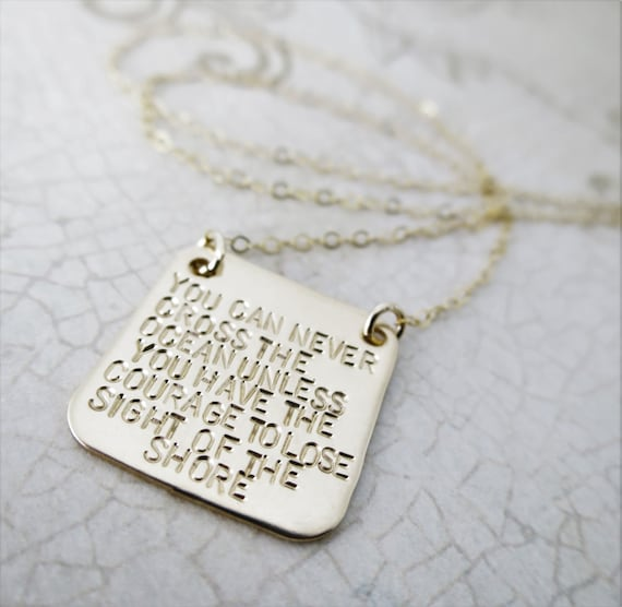 Custom Quote Jewelry | Inspirational Quote | Inspirational Jewelry | 14k Gold Filled | Personalized Necklace | Gold Square Jewelry