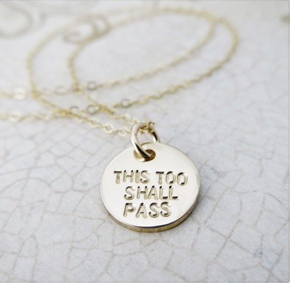 This Too Shall Pass Gam Zeh Yaavor Hebrew Necklace Etsy
