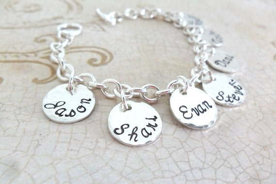Custom Charm Bracelet | Sterling Silver Charm Bracelet | Family Charm Bracelet | Mother's Day Gift | Gift for Grandma | Personalized Gift