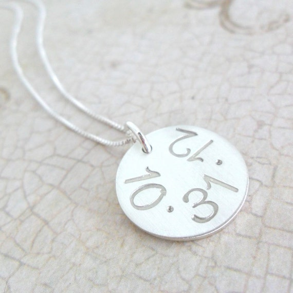 Custom Date Necklace - Sterling Silver