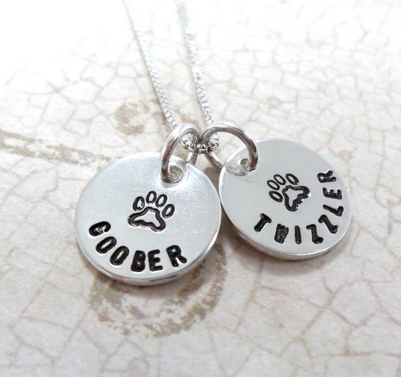 Pet Jewelry | Pet Lover | Dog Lover | Cat Jewelry | Dog Jewelry | Custom Pet Jewelry | Personalized Pet Necklace | Pet Mom | Paw Print