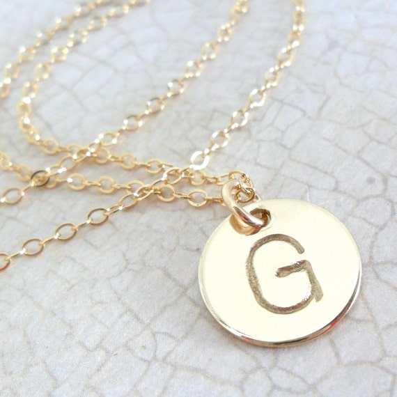 Initial Jewelry | Gold Initial Necklace | Initial Necklace | Block Font | Gold Fill Jewelry | Layering Necklace | Monogram Necklace | Custom