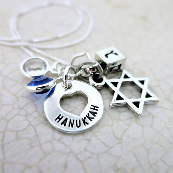 Hanukkah Charm Necklace | Sterling Silver Hanukkah Jewelry | Jewish Jewelry | Chanukah Jewelry | Chanukah Necklace | Sterling Silver