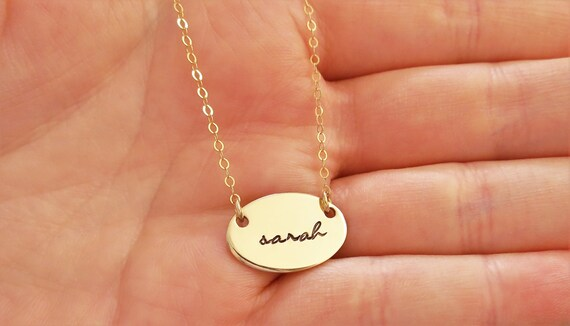Name Necklace | 14k Gold Filled | Gold Name Jewelry | Gold Name Necklace | Hand Stamped | Custom | Personalized | Dainty | Layering