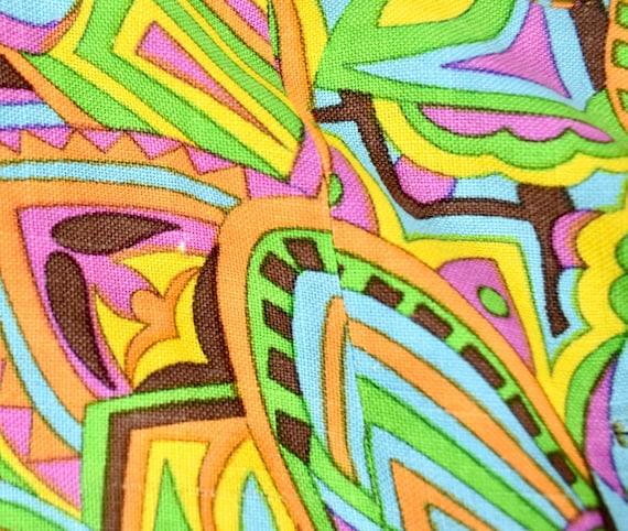 Vintage 1960s Mod Psychedelic Print Car Coat by J… - image 10