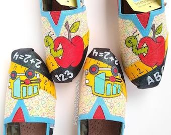 8a733fd542129e Teacher TOMS - teacher shoes - teacher gifts - teacher appreciation - custom  shoes - school shoes - gifts for her - teacher - back to school