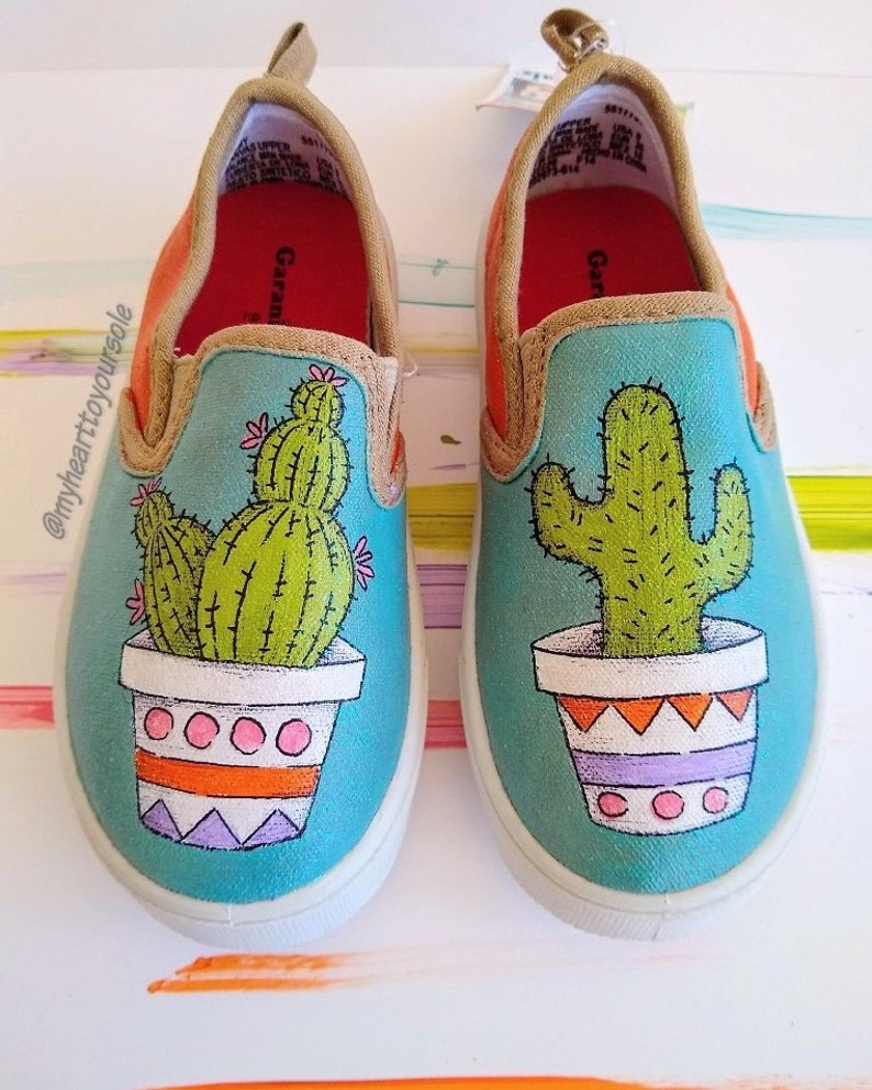Cactus shoes custom shoes gifts for her Cactus Cacti  b001051d3