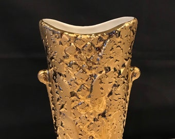 Two Weeping Gold Vases