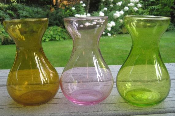3 Bulb Forcing Vases Multi Color