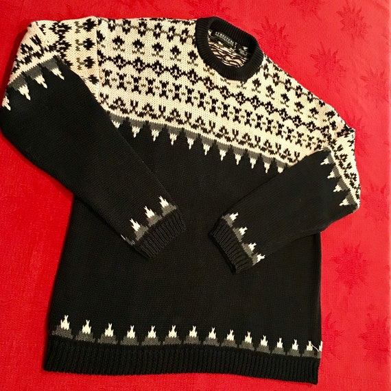 Retro Ski Fair Isle Sweater-Hong Kong