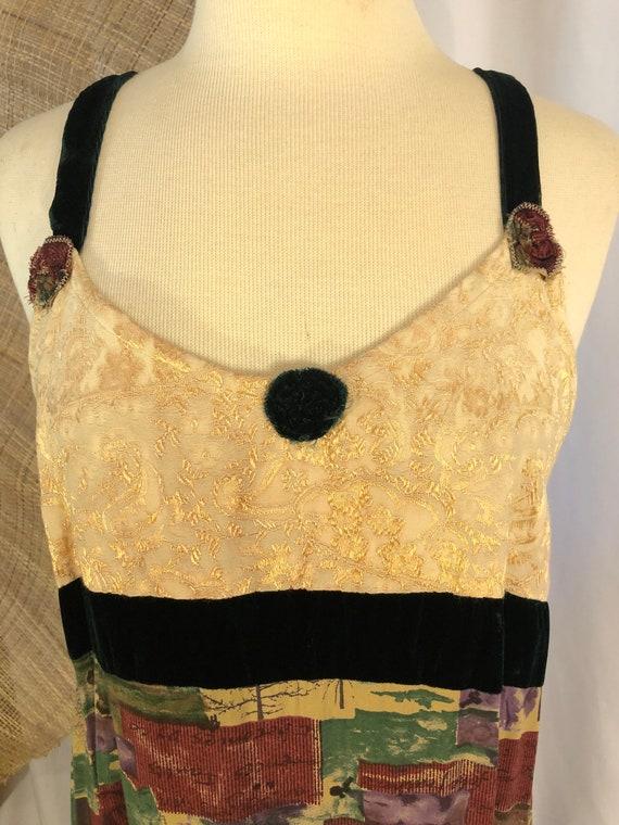 New Moon Patchwork Slip Dress