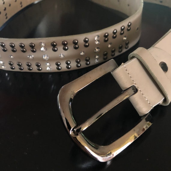 Glam Rhinestone Leather Belt-NEW!