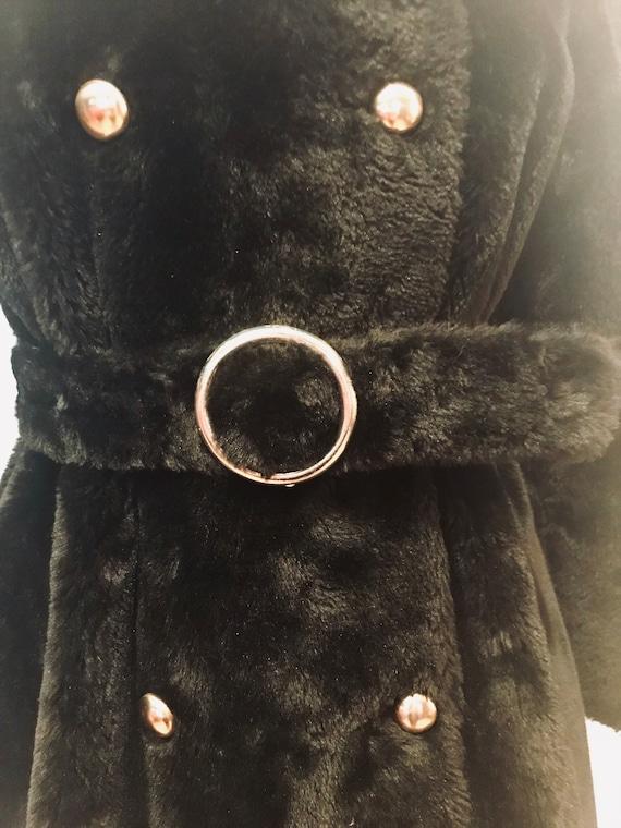 White Stag Mod Faux Fur Vegan Coat