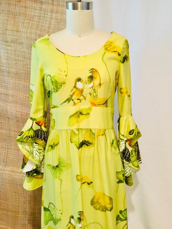 Vintage Tiki Goddess Maxi Dress