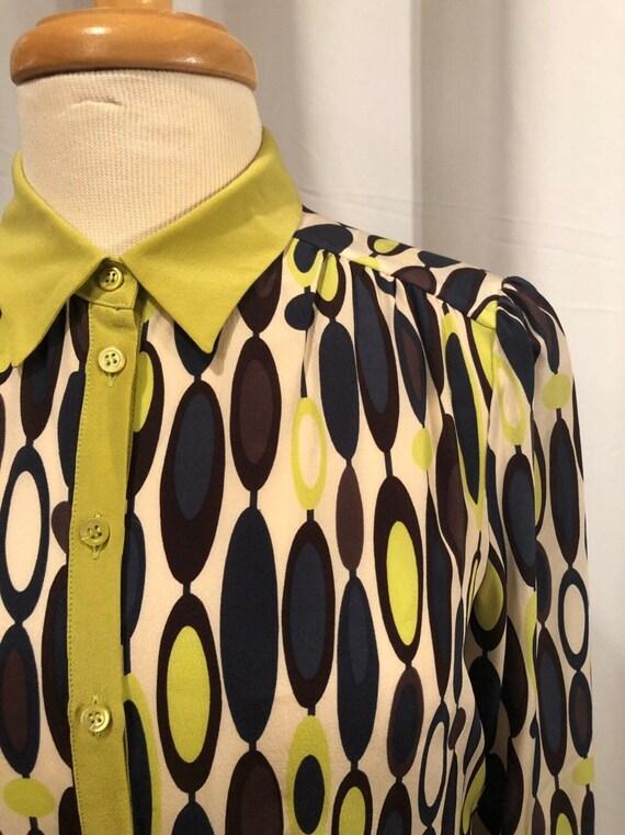 NWT!! Missoni Op Art Silk Button Up