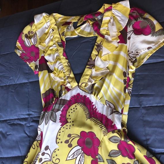 Celia Birtwell for Top Shop Silk Print Dress-new