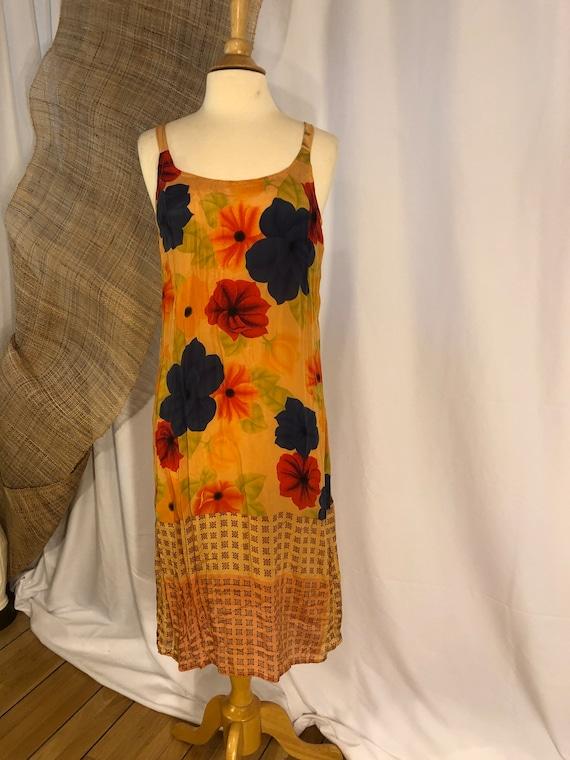 Claudette Silk Scarves Slip Dress