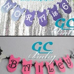 CUSTOM Gymnastics Birthday Banner - Custom listing for Lori