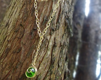 Kokiri's Emerald Necklace with Triforce