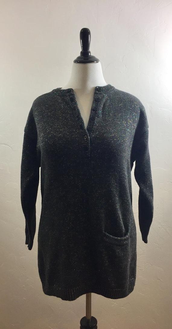 Vintage Sweater, 80s Sweater, Rainbow Sweater,Slou