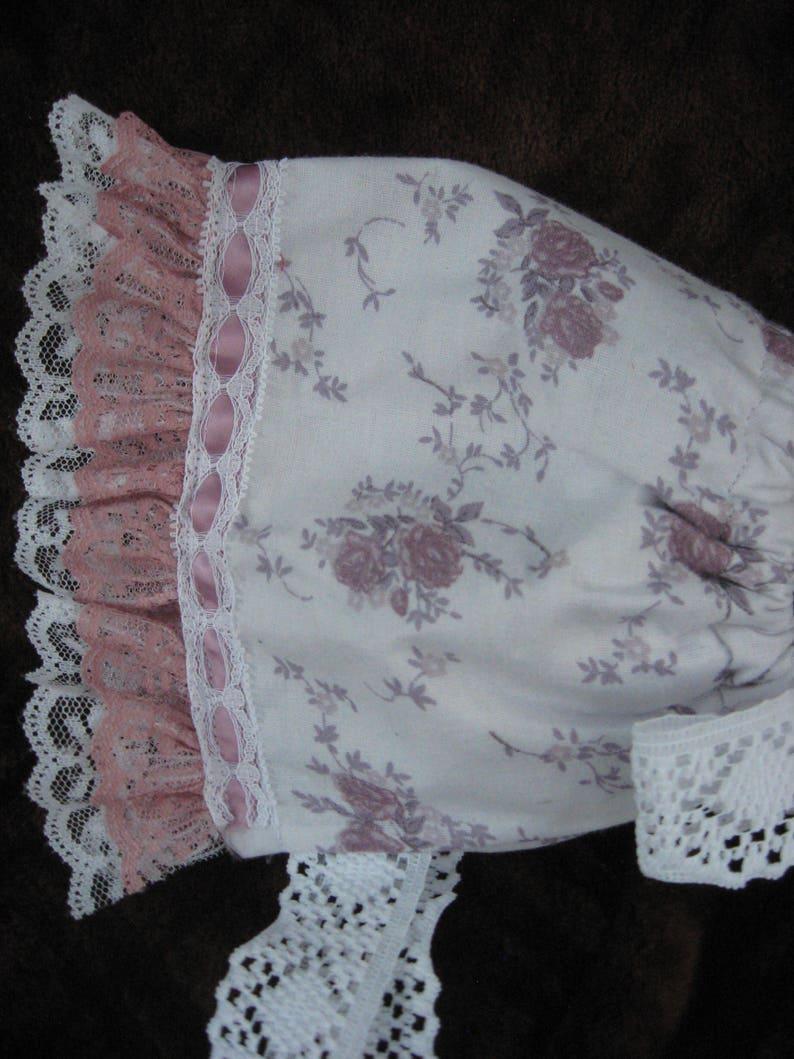 Medium  Adjustable Handmade SpringSummer Baby Girls Sunbonnet Size