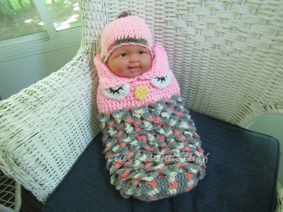 Handmade Crochet Baby Cacoon Bunting, Size - New Born To 3 Months