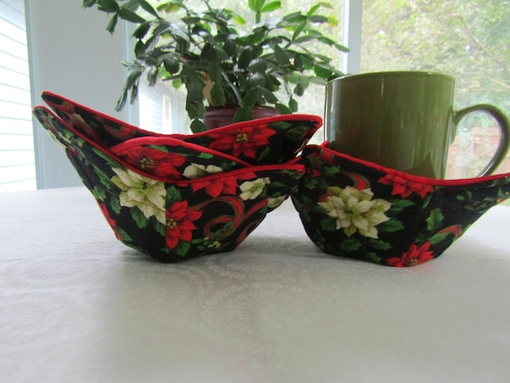 Microwaveable Cozy Cup And Glass Holder, Set Of 4