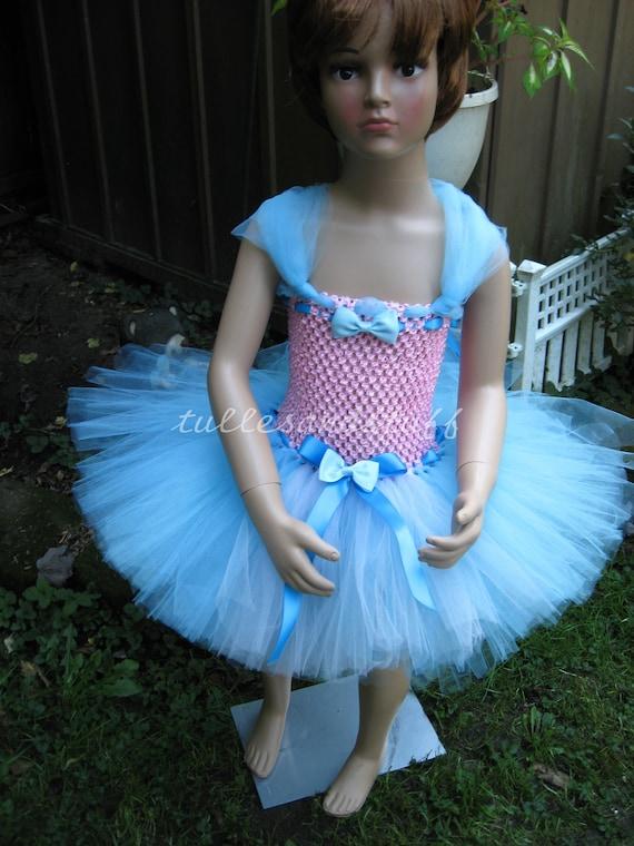 Handmade Girls Short Tutu Dress, Size 3 To 4 Years